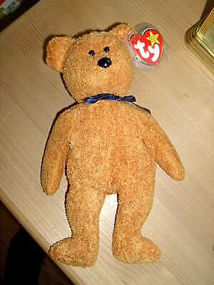 1999 Retired TY Beanie Babies Collection Bear FUZZ July 23rd 1998 • 6.50£