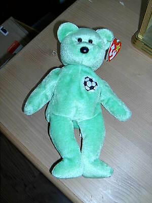 1999 Retired TY Beanie Babies Collection Bear KICKS August 16th 1998 • 6.50£