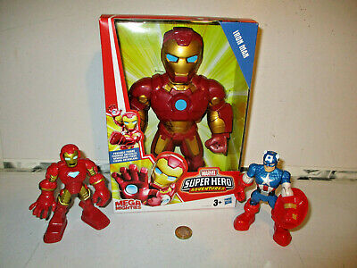 Playskool Heroes Marvel Super Hero Adventures Mega Mighties Iron Man & 2 Figures • 15.99£