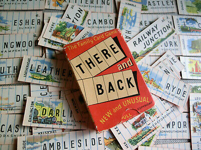 VINTAGE FAMILY CARD GAME 'THERE And BACK' 1950s – COMPLETE With INSTRUCTIONS • 30£