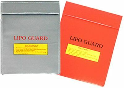 Pcs Fireproof Safety Bags Red Guard Sleeve Bags For Batteries... • 20.90£