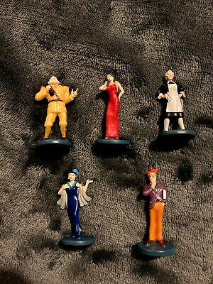 Cluedo-5 Playing Figures-good Condition • 0.99£