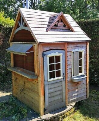 Childrens Outdoor Timber Wooden Playhouse - 1.4m Wide X 1.9m Height • 129.99£