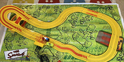 The Simpsons Micro Scalextric Yellow Track & Track-Mat Only - No Cars/Controller • 14.99£