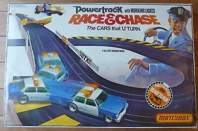 Retro Matchbox Powertrack Race & Chase Slot Car Racing Set , Spares Or Repairs! • 15£