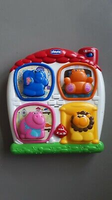 Chicco Press The Button Animal House French/English Speaking Phrases Words... • 1.99£