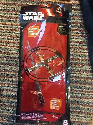 Star Wars Flying Glow Disc And Sticks. Glows For Hours. Bnip. New Sealed • 1.99£