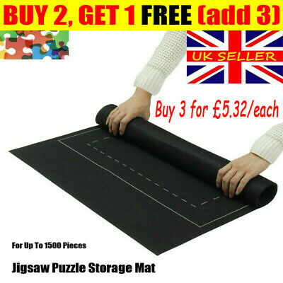 Jigsaw Puzzle Storage Mat Roll Up Puzzle Felt Storage Pad Up To 1500pc 26x46  GN • 7.85£