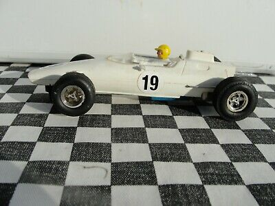 1960's Scalextric Team Car White #19 C19   1:32 Slot Used Unboxed • 6£