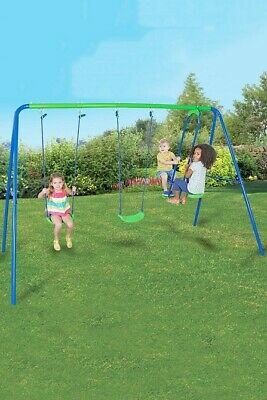 Sportspower Garden Double Swing And Seesaw Glider Set Childrens Outdoor • 85.99£