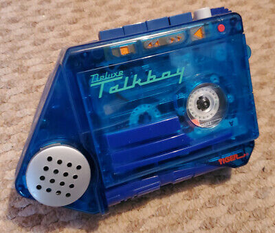 Deluxe Talkboy Transparent Blue [Tiger Electronics] Retro Vintage Home Alone 2  • 7£