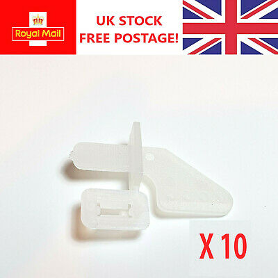 RC Plane Nylon Control Horn 20mm Self Fixing Pack Of 2 Or 10 • 3.99£