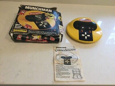 Grandstand Munchman Vintage 1981 PacMan Game Boxed • 39£