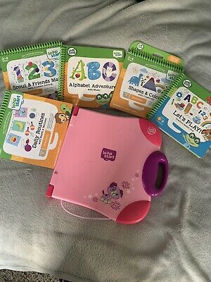 Leapfrog Leapstart Learning System Pink With Books • 16£