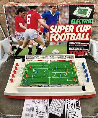 Vintage Tomy Super Cup Football Game. Working In Original Box. • 34.50£