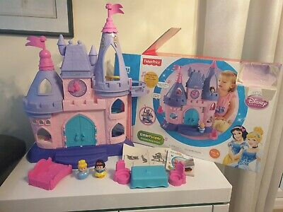 Fisher Price Little People Disney Princess Castle And Figures Original Box Insts • 14.99£