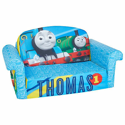 Marshmallow Furniture 2-in-1 Flip Open Couch Bed Kid's, Thomas Train • 90.33£