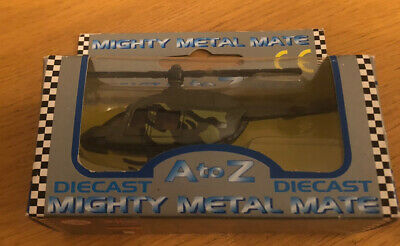 RARE Collectible AtoZ Mighty Metal Mate Die Cast Military Helicopter • 7.99£