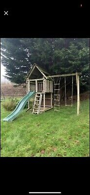 Wooden Climbing Frame With Slide • 80£