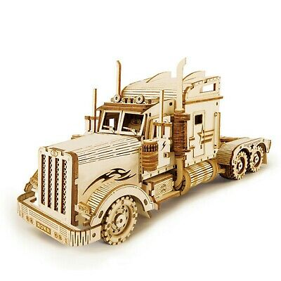 3D Car Truck Model Self Assembly Wooden Puzzle Jigsaw Children DIY Toy Gift • 9.88£