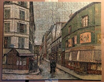 Vintage Wooden Jigsaw After A Painting By Utrillo - 'la Rue Seveste' - Complete • 12.50£