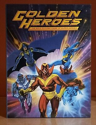 Golden Heroes Super Hero Role Playing Games Workshop Boxed RPG • 26£