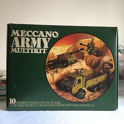 Meccano Army Multikit,boxed Set Includes Instruction Booklet And Stickers • 3.30£