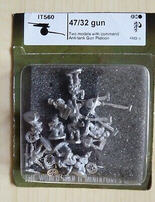47/32 Gun - Flames Of War - It560 - 2 Models With Command • 11.50£
