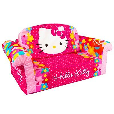 Marshmallow Furniture 2-in-1 Flip Open Couch Bed Kids Sofa, Hello Kitty • 94.50£