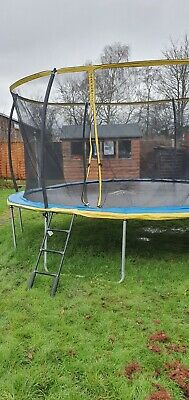 14 Ft Trampoline With Netting & Ladder By Zero Gravity  • 120£