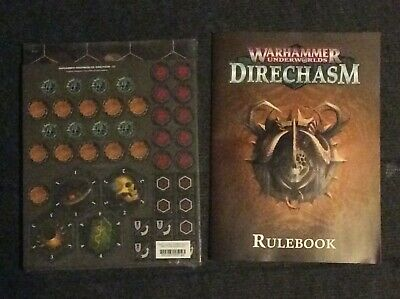 Warhammer Underworlds Fantasy Direchasm  Playing Board & Tokens + Mini Rules . • 4.99£