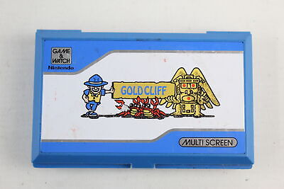 Vintage / Retro 1980's NINTENDO Battery Operated GOLD CLIFF Hand Held Game  • 10.50£