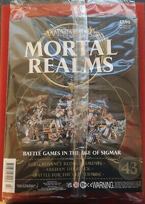 Warhammer Age Of Sigmar Mortal Realms Issue 43 Includes Sacrosanct Reinforcement • 13.99£