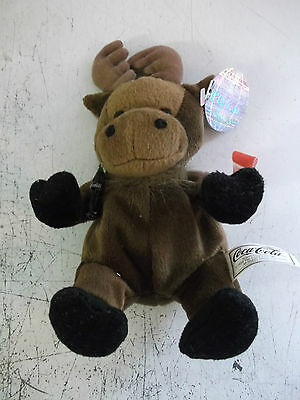 Coca Cola Bean Bag Soft Toy Called Gourmand The Moose From Canada. • 3£