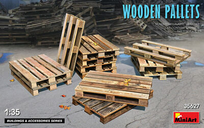 Miniart 1/35 Scale Wooden Pallets #35619 • 13.25£