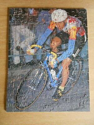 Vintage Rare Handmade Wooden Jigsaw Racing Cyclist Made By Cyclist In  Picture • 10£