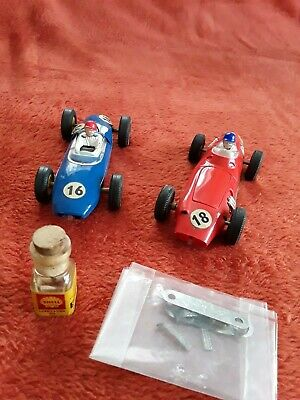 Scalextric Vintage Cars Lotus & Brm With Accessories • 25£