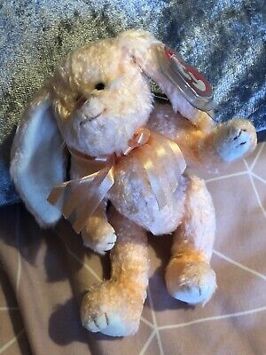 Ty Beanies Bear -attic Treasures Camelia Orange Rabbit With Tag - Mint - Retired • 4£