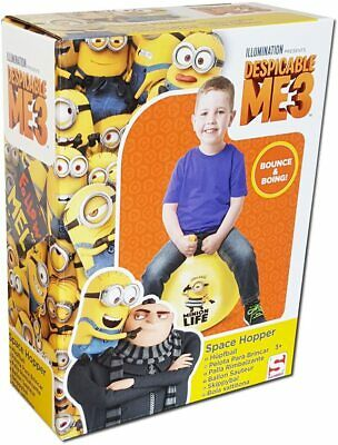 Despicable Me 3 Minions Space Hopper Jumper Inflatable Bouncing Toy Kids • 12.99£