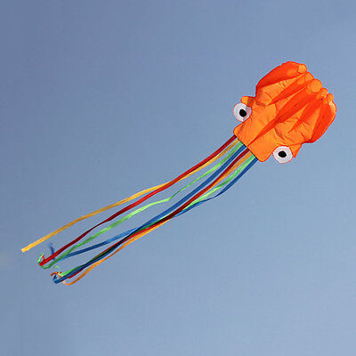 4M Single Line Stunt Red Octopus Power Sport Flying Kite Outdoor Activity OR • 8.54£