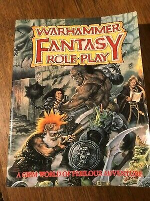 Warhammer Fantasy Role Play Rule Book - 1995 VGC Soft Cover • 28£