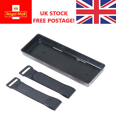 RC Car Battery Tray Holder Box With Straps RC Truck 1/8 1/10 UK FREE POST • 6.19£