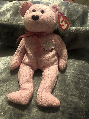TY Beanie Baby - BABY GIRL The Bear (baby Shower) Pink • 4£