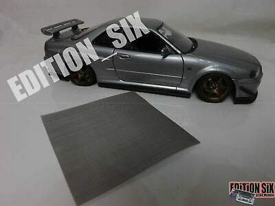1/64 1/24 1/18 METAL MESH GRILLE RADIATOR VENTS Cover Model Parts Tuning Car  • 6£