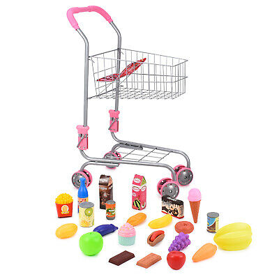 Abco Tech Pretend Play Children's Toy Shopping Cart Grocery Trolley For Toddlers • 29.70£