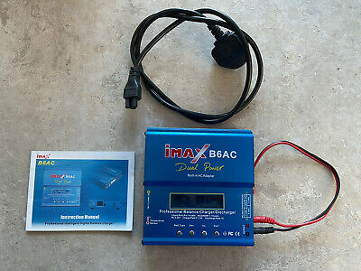 IMax B6AC Digital Balancer Charger Dual Power RC Plane Car Heli  • 25£
