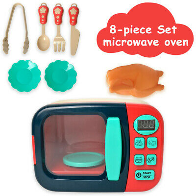 Kids Microwave Oven & Food Realistic Toy Pretend Role Play Kitchen Birthday Gift • 14.99£