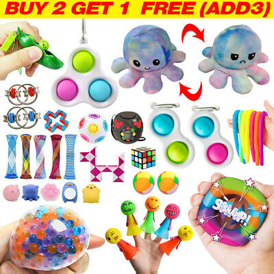 Fidget Toys Set Kit Sensory Tools Bundle ADHD Stress Relief Hand Kids Adults Toy • 5.89£