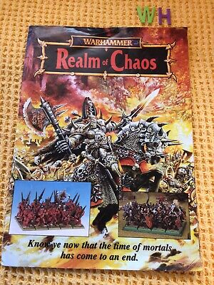 Realm Of Chaos Warhammer SCARCE SUPPLEMENT OPENS TO LARGE POSTER • 29.99£