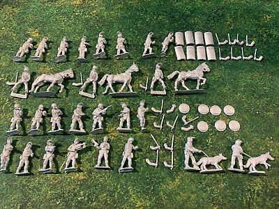 26 X 28mm Riot Police, Includes 3 Mounted And 2 Dogs Offensive Miniatures. • 20£